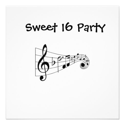 'MUSICAL NOTES' ALL OCCASION PARTY INVITATION