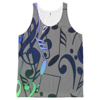 Musical Notes All-Over Print Tank Top