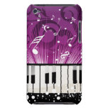 Musical Notes and Ivory Keys Purple Case iPod Case-Mate Cases
