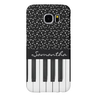 Musical Notes and Keyboard Design Galaxy S6 Case