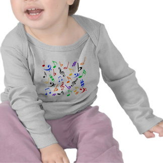 Musical Notes Baby Long Sleeve Shirt