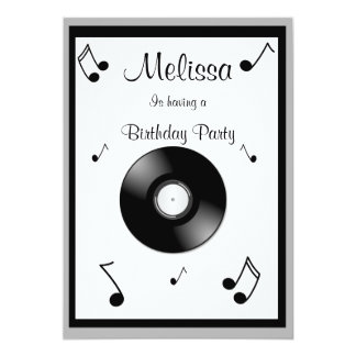 Musical Notes Birthday Invitations