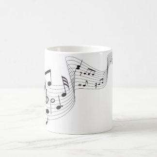 Musical Notes - Black/White 11 oz Morphing Mug