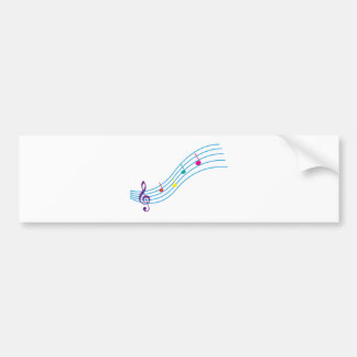 Musical notes bumper sticker