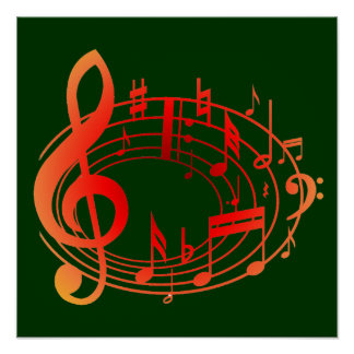 Musical Notes Change the Background Poster