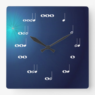 Musical Notes Clock Midnight Blue