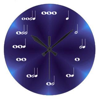 Musical Notes Clock Purple blend