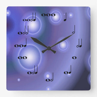 Musical Notes Clock with purple