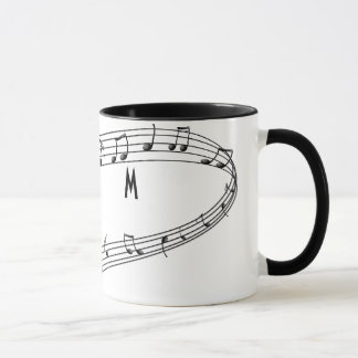 Musical Notes Coffee Mug with Monogram