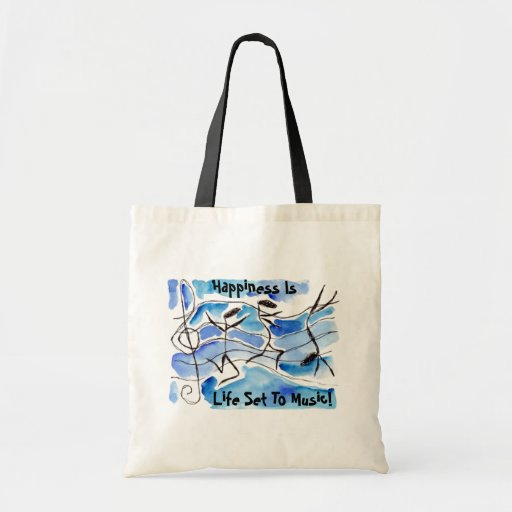 Musical Notes Come to Life Music Adds Joy to Life Canvas Bag