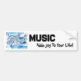 Musical Notes Come to Life Music Adds Joy to Life Bumper Sticker