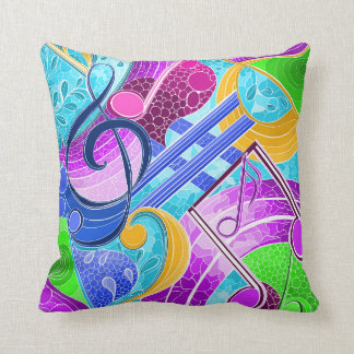 Musical notes cushion