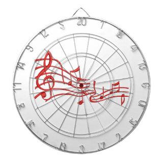 musical notes dartboard