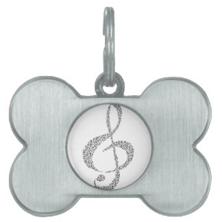 Musical Notes Design Pet ID Tags