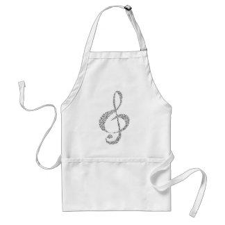 Musical Notes Design Standard Apron