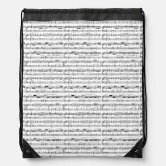 musical notes drawstring bag