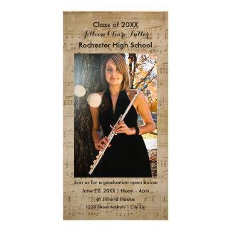 Musical Notes Graduation Photo Card