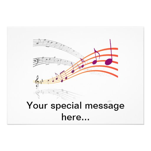 Musical Notes Custom Announcements