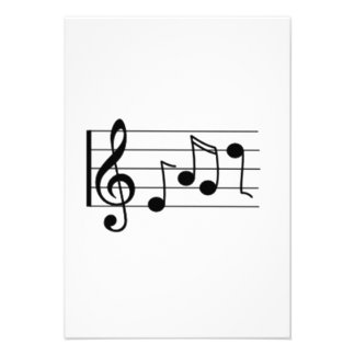 Musical Notes Invitation