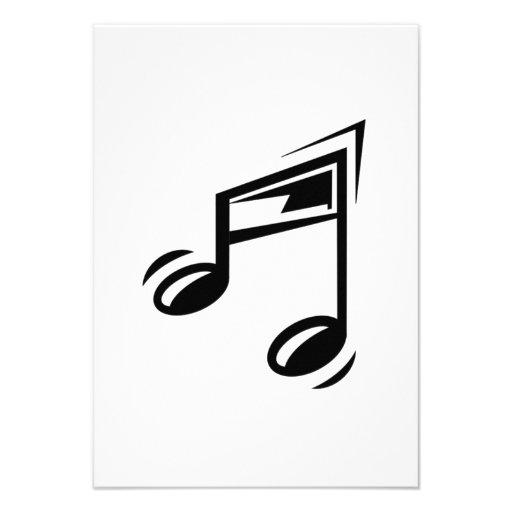 Musical Notes Custom Invitation