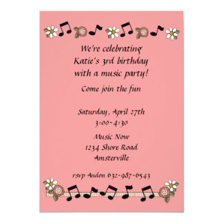 Musical Notes Invitation