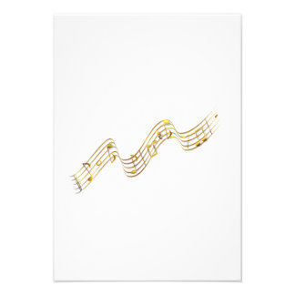 Musical Notes Custom Invitations