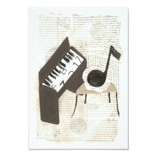 Musical Notes Invitations