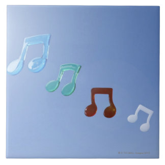 Musical Notes Large Square Tile