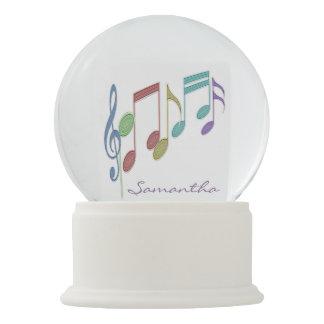 Musical Notes Linear Multicolor Custom Snow Globe