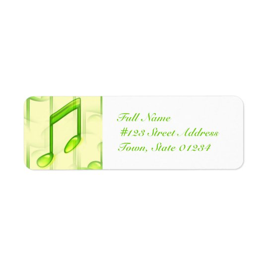 Musical Notes Mailing Labels