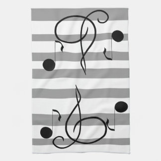 Musical Notes Music Cafe Towels Musician Gifts