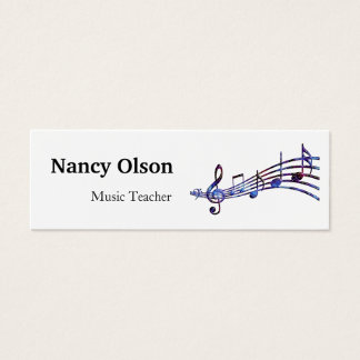 Musical Notes Music Teacher Mini Business Card