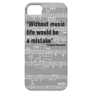 musical notes music-themed quote iPhone 5/5S case