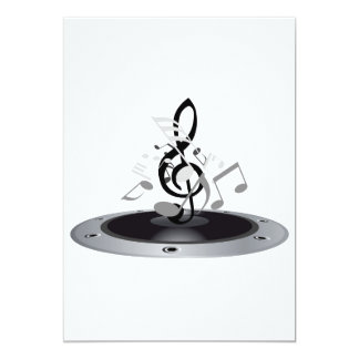 Musical Notes On An Album 13 Cm X 18 Cm Invitation Card