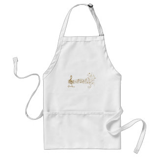 MUSICAL NOTES ON FUN  PENTAGRAM - HAPPY MUSIC GIFT APRONS