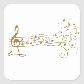 MUSICAL NOTES ON FUN  PENTAGRAM - HAPPY MUSIC GIFT STICKER