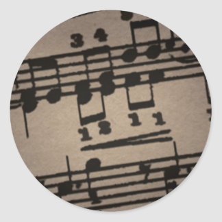 Musical Notes on Grey Stickers