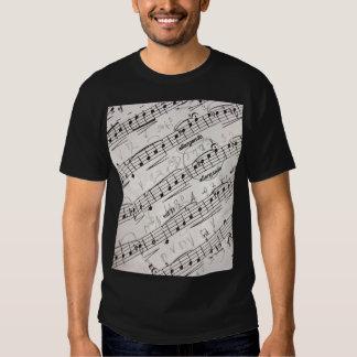 Musical Notes on Men's Basic Dark T-Shirt