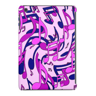 Musical Notes Pale Pink Lively Music Pattern iPad Mini Covers
