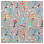 Musical Notes print - Medium Grey, Multi Fabric