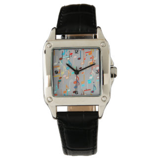 Musical Notes print - Medium Grey, Multi Watch