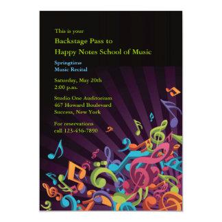 Musical Notes Recital Invitation