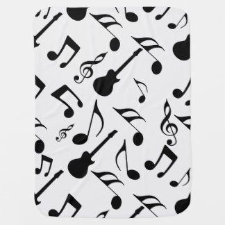 Musical Notes - Sheet Music Design Buggy Blanket