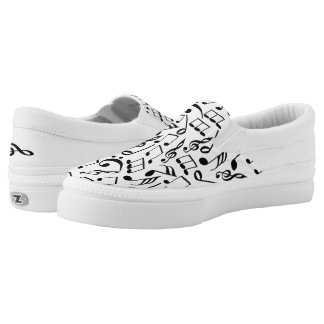 Musical Notes Slip On Shoes