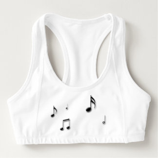 Musical Notes Sports Bra