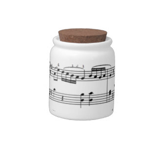 musical notes candy jar