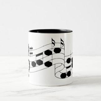 musical notes Two-Tone coffee mug