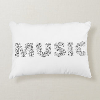 Musical Notes Typography Music Decorative Cushion