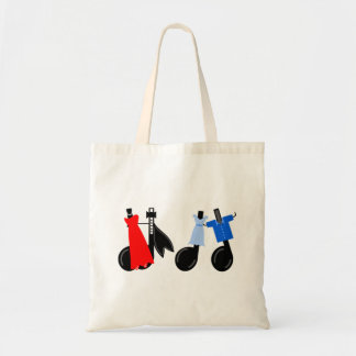 Musical Notes Wearing Clothes Tote Bag