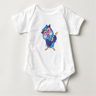 Musical owl baby bodysuit